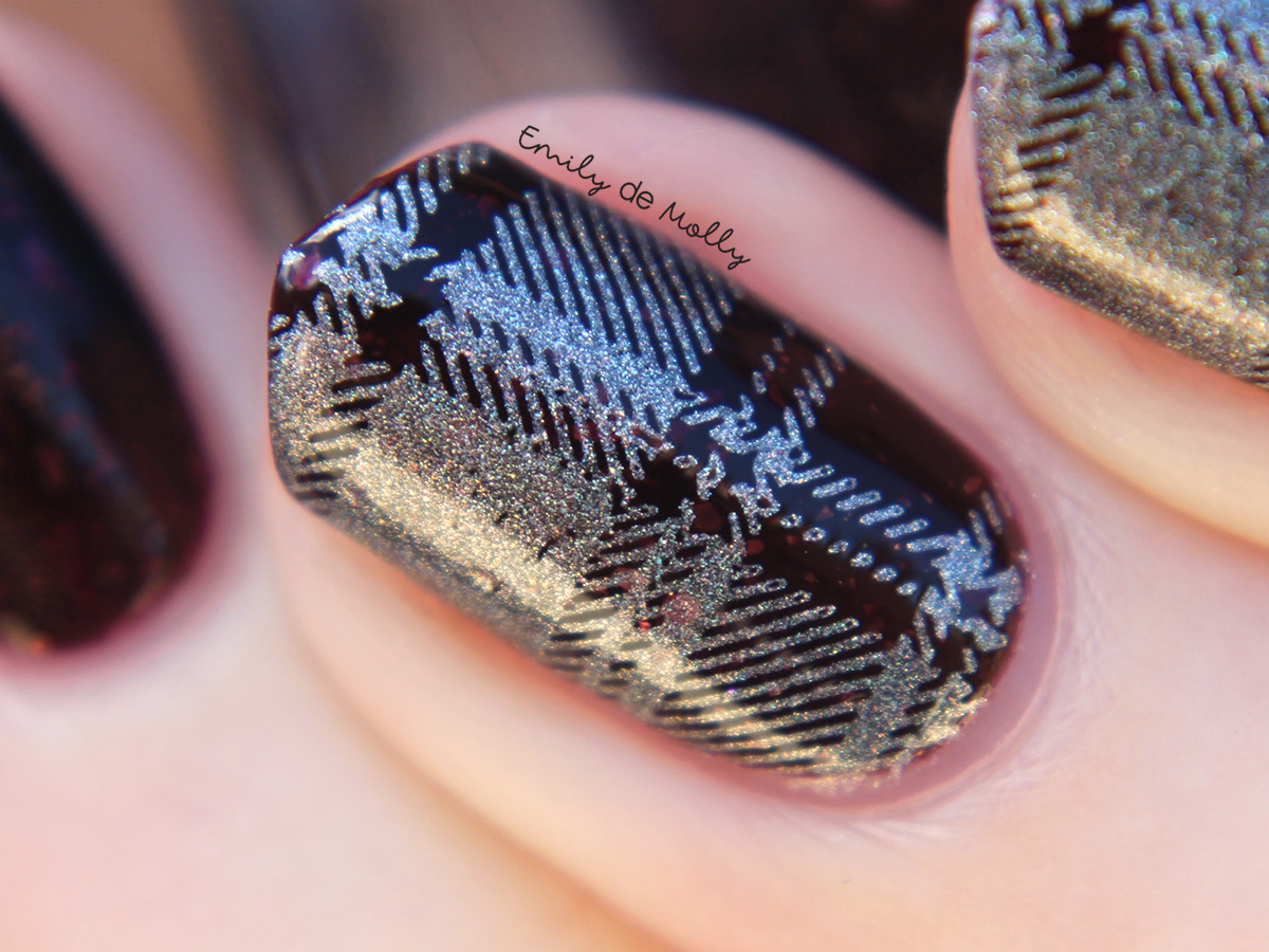 Silver holo stamping